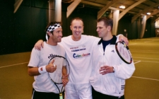 With Pat Cash and Andrew Castle