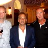 Andrew Grant, George Pelecanos and Colin Campbell at Harrogate Crime Festival