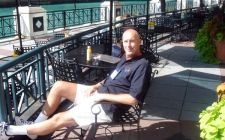 Relaxing at Chicago Bouchercon 2005